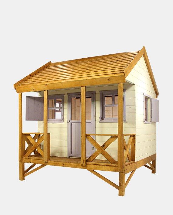Casita infantil americana la carlota maderas for Oferta casita jardin ninos